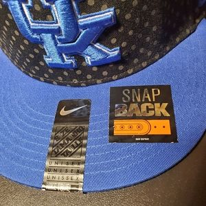 Nike UK Black/Blue Snapback Hat NWT